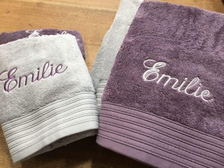 serviettes éponges personnalisées